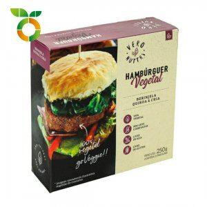 Hambúrguer Vegetal de Berinjela, Quinoa e Chia ( 2unid. – 250g)